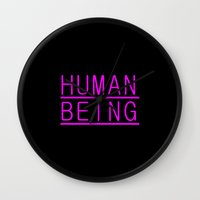 human Wall Clocks featuring Human by PsychoBudgie