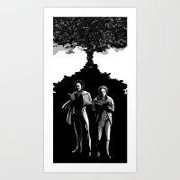 Two Magicians Art Print