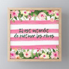 Il est interdit de piétiner les rêves - French Quote Collection Framed Mini Art Print