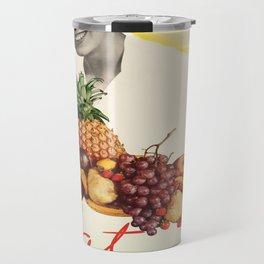 Vintage poster - Eat more fruit Travel Mug