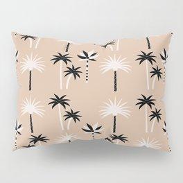 Palm Trees - Neutral Black & White Pillow Sham