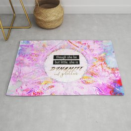 Watercolor Pastel Boho Dynamite and Glitter Rug