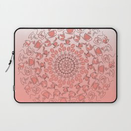 Living coral coffee mandala No1 Laptop Sleeve