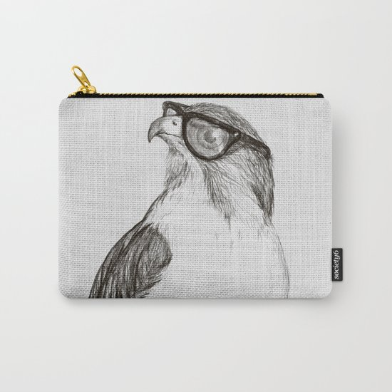 Hawk with Poor Eyesight Carry-All Pouch