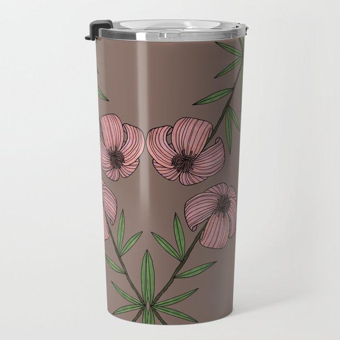 PINK FLOWER Travel Mug