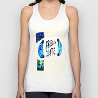 skate Tank Tops featuring Skate by SLIDE