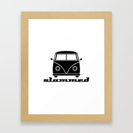 slammed… go low, or go home Framed Art Print