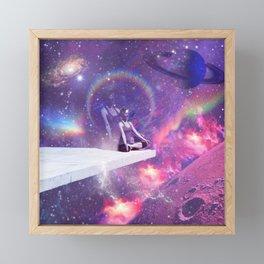 Outer-Space Meditation (Higher self) Framed Mini Art Print