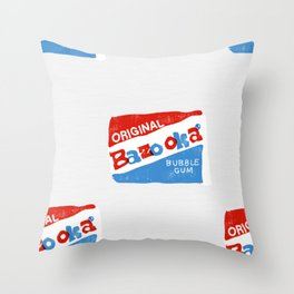 BAZOOKA BUBBLE GUM WRAPPERS Throw Pillow