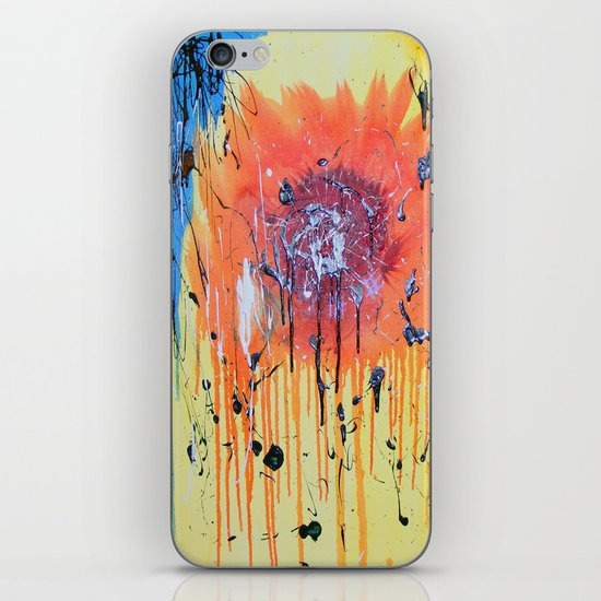 Bleeding poppy iPhone & iPod Skin