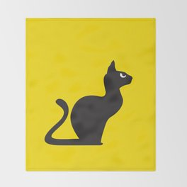 Angry Animals: Cat Throw Blanket