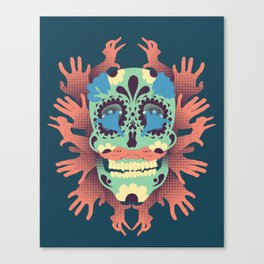 Skull and Hands V.2 Canvas Print