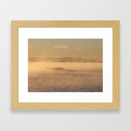 Mist on Lake Titicaca Framed Art Print