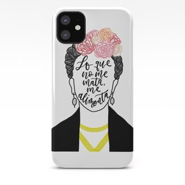 Frida Kahlo - Spanish Quote - Lo Que No Me Mate, Me Alimenta iPhone Case