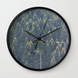 Forest autumn greece Wall Clock