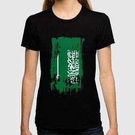SA SAU Saudi Arabia Flag T-shirt