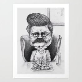 Ron's Bacon and Eggs Art Print
