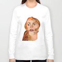 lindsay lohan Long Sleeve T-shirts featuring Lindsay Lohan  by Rebecca Singer Illustration