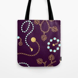 Chain belt pattern fashion design. Tote Bag