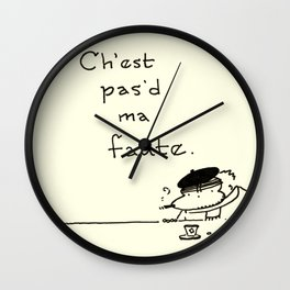 """""""It Ain't My Fault"""" Improper French Ape Wall Clock"""