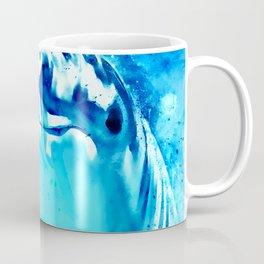 dolphin splatter watercolor Coffee Mug