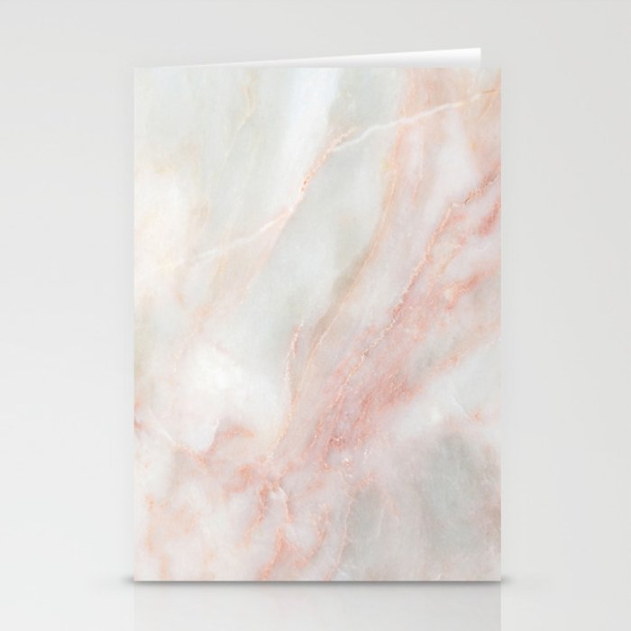 Softest blush pink marble Stationery Cards