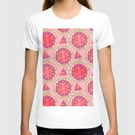 pink watermelon pattern T-shirt