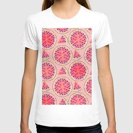pink watermelon pattern T-shirt
