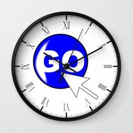 Computer Icon Go Wall Clock