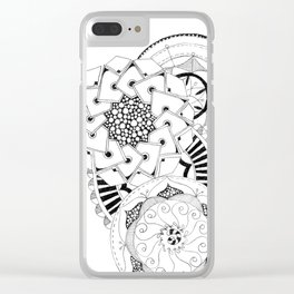 Mandala Series 04 Clear iPhone Case