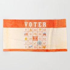 The Bingo Vote Beach Towel