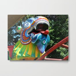 Dragon Coaster Metal Print