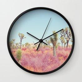 Surreal Desert - Joshua Tree Landscape Photography Wall Clock