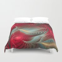 wallet Duvet Covers featuring Winter cheer by thea walstra
