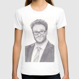 Seth Rogen Pencil drawing T-shirt