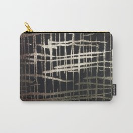 metallic grid Carry-All Pouch