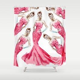 Sabrina Fuschia Pink Red Fashion Shower Curtain