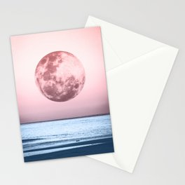 Bicolor Moon Beach Stationery Cards