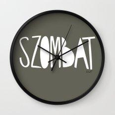 days | szombat Wall Clock