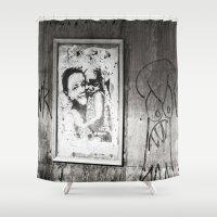 street art Shower Curtains featuring Street Art by Treadstowne