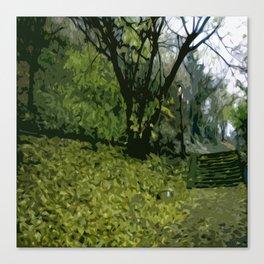 Budapest Green  Canvas Print