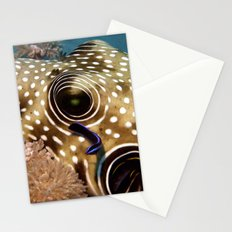 Puffer Fish Being Cleanced Stationery Cards