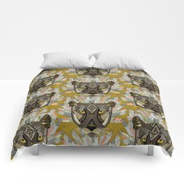 native mountain lion gold Comforters