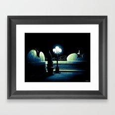 Midnight Stroll Framed Art Print