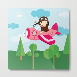 nursery decor , children gift, birthday gift Metal Print