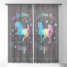 Make Your Own Magic 2 Sheer Curtain