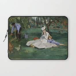 Édouard Manet - The Monet Family in Their Garden at Argenteuil (1874) Laptop Sleeve