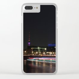 A night of lights... Clear iPhone Case