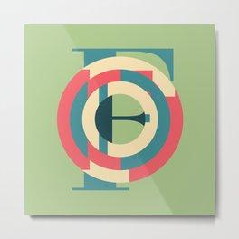 Typography series #F Metal Print