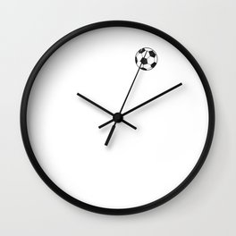 Soccer Heartbeat Siccer Lover Player Coach School Family Fan Wall Clock